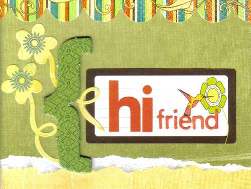 Card hi friend