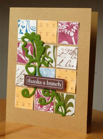 Card thanks a bunch