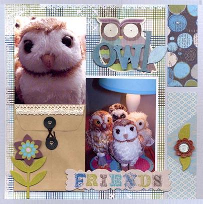 Owl friends sized