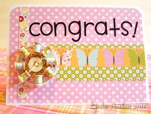 Congrats card 1