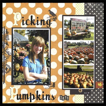 Picking pumpkins sized